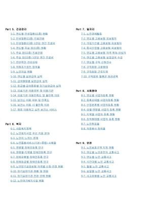 2018년 안산시 노인복지통계표